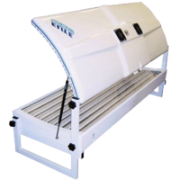 The Elite Super-Turbo Double sunbed produces an all-over and deep tan - sunbed hire from Sun Centre, Sunbed Hire, Dublin.